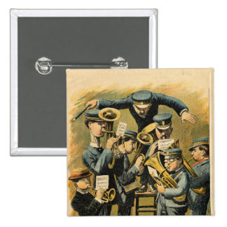 Band rehearsal 15 cm square badge
