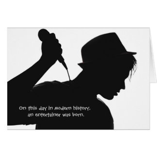 Band Vocalist Front Man Entertainer Birthday Card