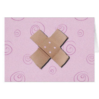 Bandage X Get Well Card
