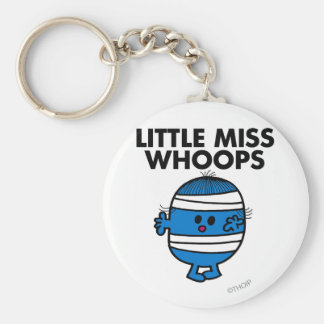 Bandaged Little Miss Whoops Basic Round Button Key Ring