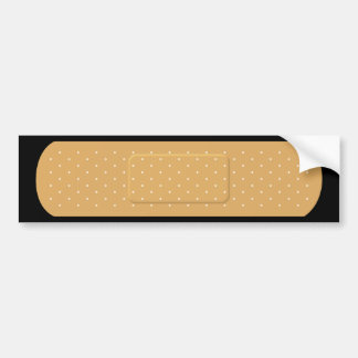 Bandaid for Black Car Bumper Sticker