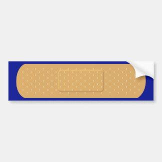 Bandaid for Blue Car Bumper Sticker