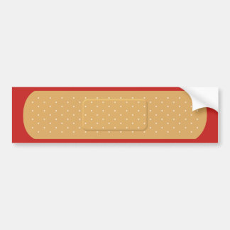 Bandaid for Red Car Bumper Sticker