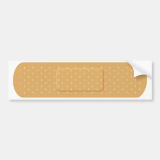 Bandaid for White Car Bumper Sticker