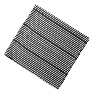 Bandana-Black & White Stripes Bandana