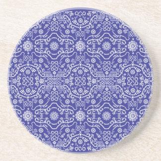 Bandana Blue Pattern Paisley Coaster