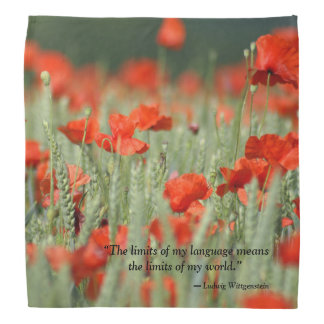 Bandana covered with a fields of poppies