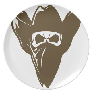 Bandana Cowboy With Hat Plate