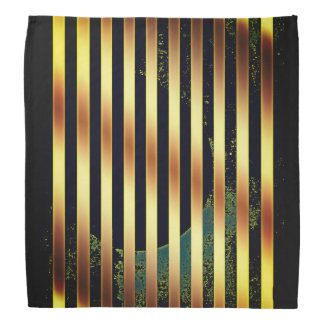 Bandana gold and black stripes.