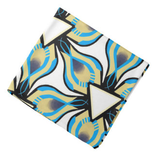 Bandana Jimette black and white yellow Design blue