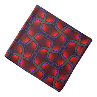 Bandana Jimette blue and gray red Design