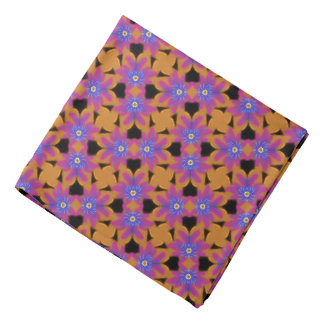Bandana Jimette Design bleu fuchsia et orange.