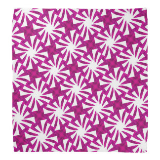 Bandana Jimette Design fuchsia and white