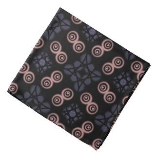 Bandana Jimette Design gray and pink on black