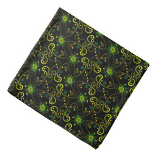 Bandana Jimette Design green and yellow on black