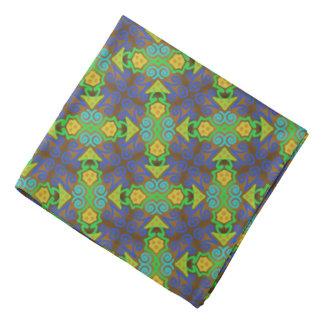 Bandana Jimette Design green and yellow on grey