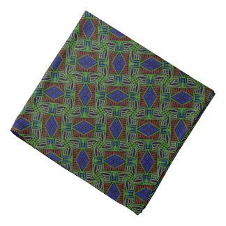 Bandana Jimette Design green, blue and red