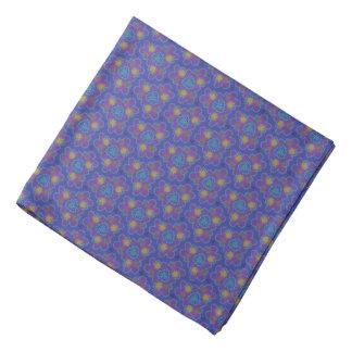 Bandana Jimette Design purple lily yellow white