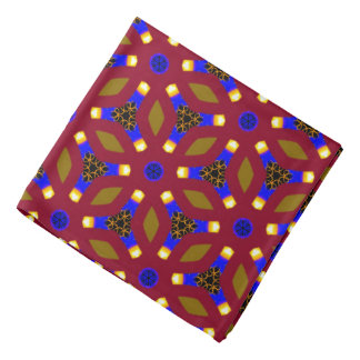 Bandana Jimette Design red blue and yellow