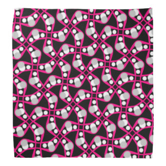 Bandana Jimette Design white gray and pink on