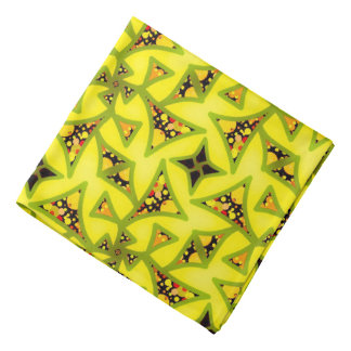 Bandana Jimette Design yellow black and red