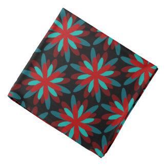 Bandana Jimette gray red Design on black