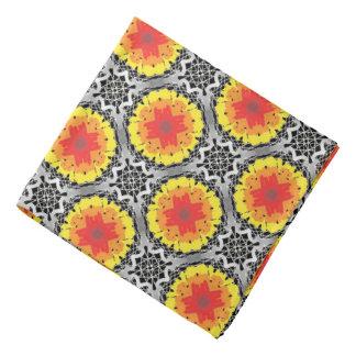 Bandana Jimette gray yellow orange Design red