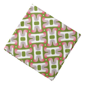 Bandana Jimette red and white Design on green