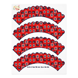 Bandana Pattern Cowboy Cupcake Covers - Flyers