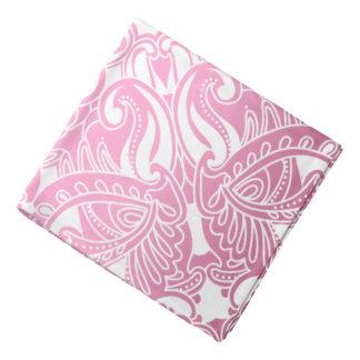Bandana-  Pink and White Paisley Bandana