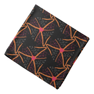 Bandana red Jimette orange Design on black