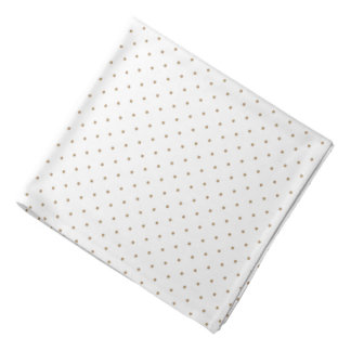 Bandana White with Golden Dots