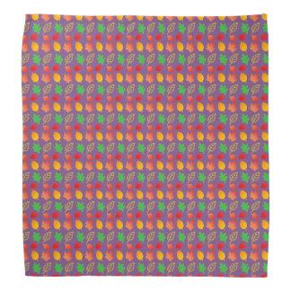 Bandana with Autumn Leaves pattern