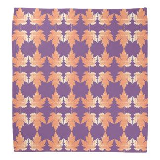 Bandana with Autumn Maple Leaves pattern