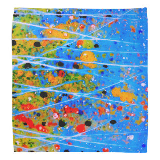 Bandana with splashed-colors: an abstract design