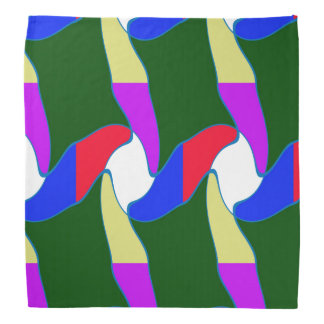 Bandanas abstract waves patterns fashion couture