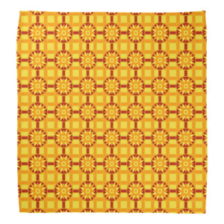 Bandanna Geometric 318 Red & Gold