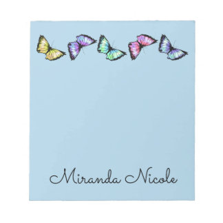 """""""Banded Butterflies"""" Notepad"""