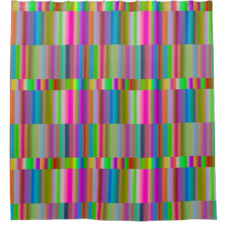 Banded Stripes Shower Curtain