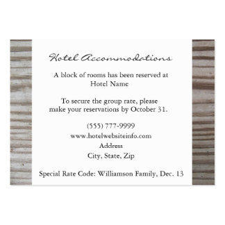 Banded Wood Hotel Accommodation Cards Business Card Template