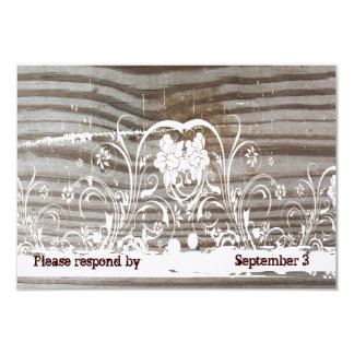Banded Wood rsvp with envelopes Card