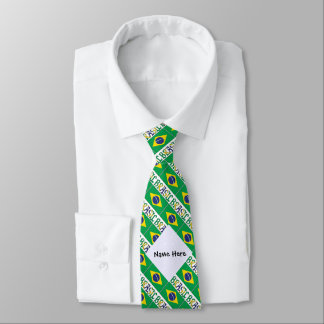 Bandeira do Brasil e Brasil Come o Nome Tie