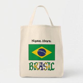 Bandeira do Brasil e Brasil Come o Nome Tote Bag