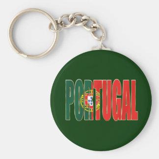 "Bandeira Portuguesa - Marca ""Portugal"" por Fãs Basic Round Button Key Ring"