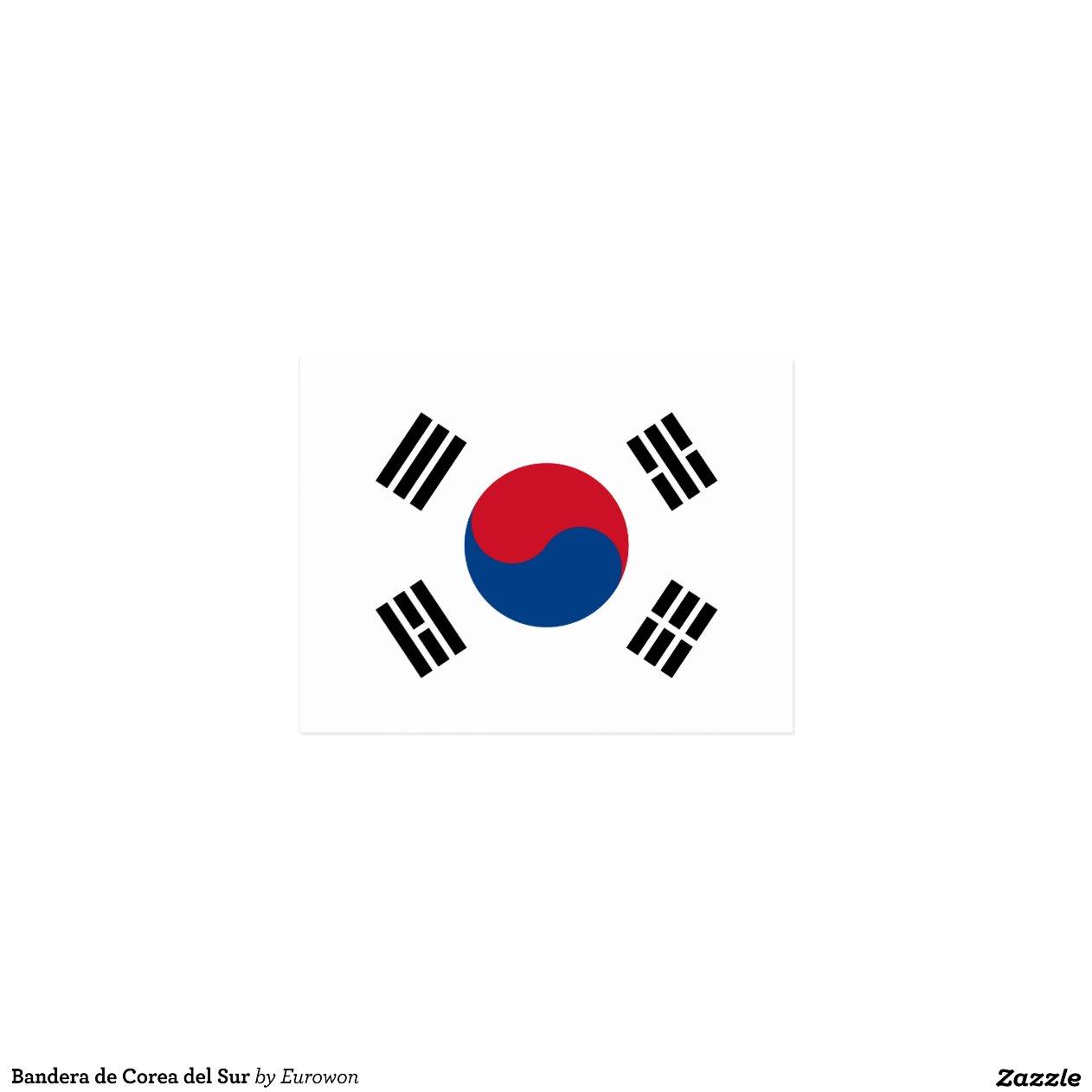 Bandera De Corea Del Sur Tarjeta Postal