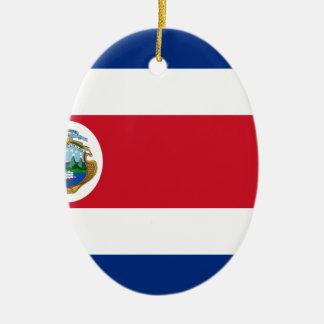 Bandera de Costa Rica - Flag of Costa Rica Ceramic Oval Decoration