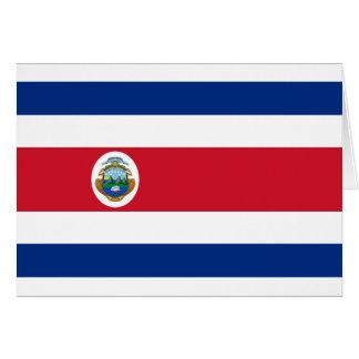 Bandera de Costa Rica - Flag of Costa Rica Greeting Card