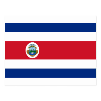 Bandera de Costa Rica - Flag of Costa Rica Postcard