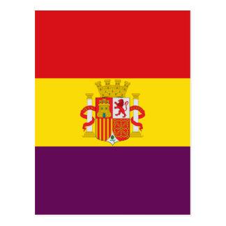 Bandera de la República Española Postcard