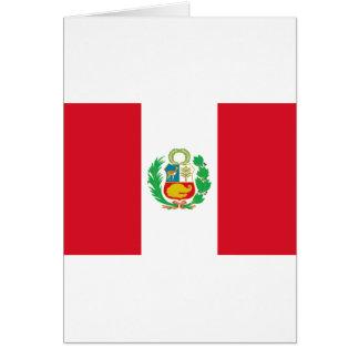 Bandera del Perú - Flag of Peru Card